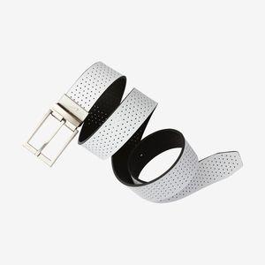 Nike White Perforated Mens Golf Belt